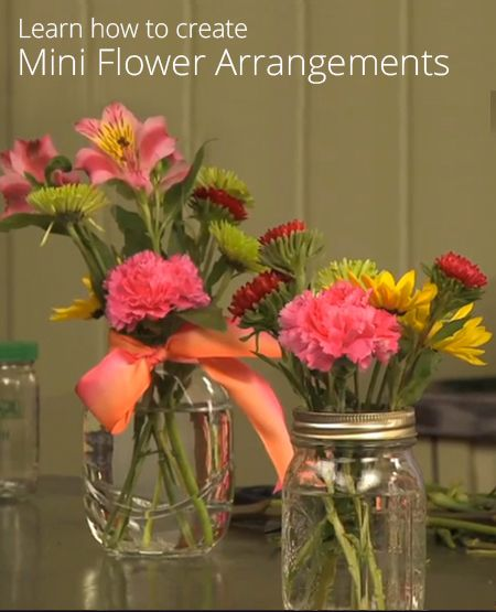 How to Create Mini Flower Arrangements @u Bloom