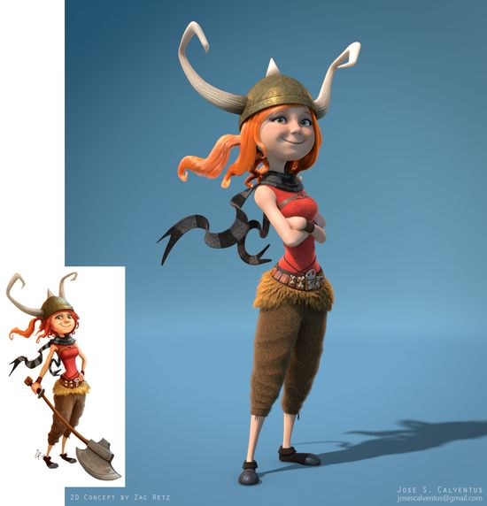 Female Viking Character #3D #character