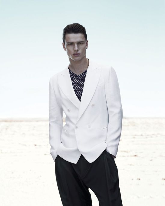 Simon Nessman by Mert & Marcus for Giorgio Armani Spring/Summer 2012 Campaign
