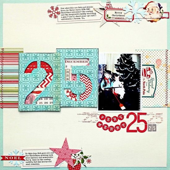 #papercraft #Scrapbook #layout #Christmas    October Afternoon