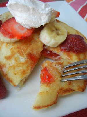 Ebelskiver Stuffed Pancakes--it's like dessert for breakfast!  Stuff your pancakes with fresh fruit, jam, chocolate, nutella or anything you can think of.  Drizzle your pancakes with our Buttermilk Syrup & you have a melt in your mouth breakfast.