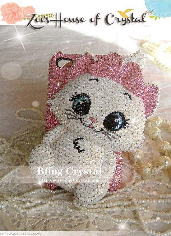 SWAROVSKI Sales - Bling Bling Iphone 5 / Samsung S3 phone case with elegant MARIE CAT. $239.00, via Etsy.