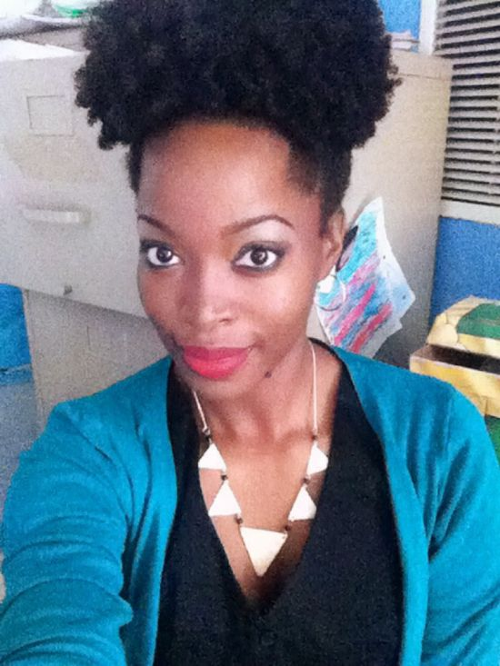 Natural hair style: puff