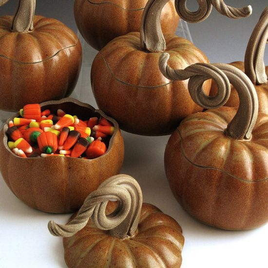 Pumpkin Jar Handmade Pottery Stoneware John by #sew in weave #handmade tattoo #handmade ravioli