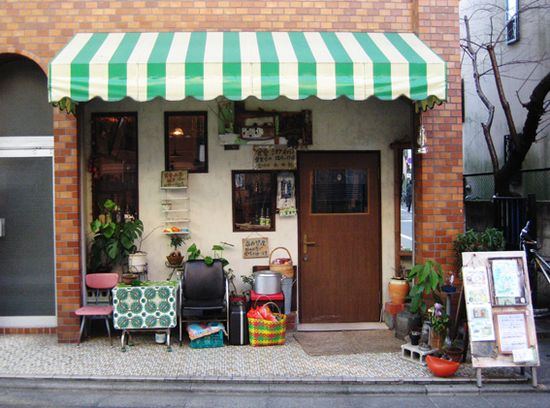 Little cafe in Japan