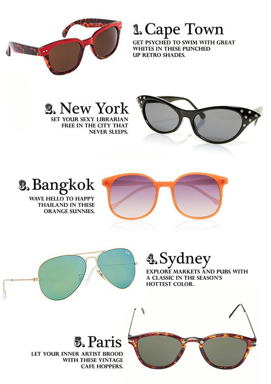 Travel The World In The Seasons Hottest Sunnies!