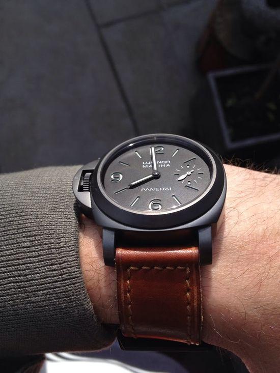 Black, matte watch