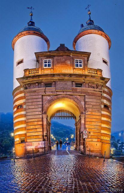 The Old Bridge in Heidelberg, Germany
