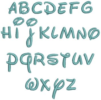 how to write in disney font