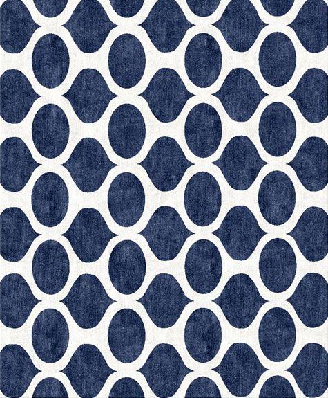 blue pattern rug