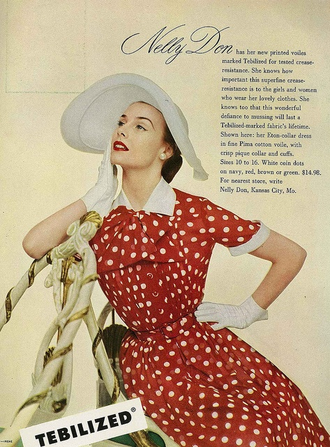 A shining example of why I can never get enough of 1950s polka dots. #vintage #fashion #1950s #dress #hat