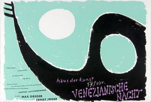Venetian Night, Munich (1956), by Ernst Klinger. via Susanlenox