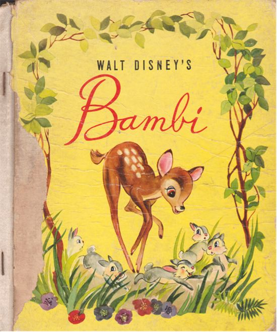 Bamby by Walt Disney's cover book #vintage