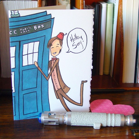 Doctor Who Valentine Card - Eleven says Hello Sexy // Etsy