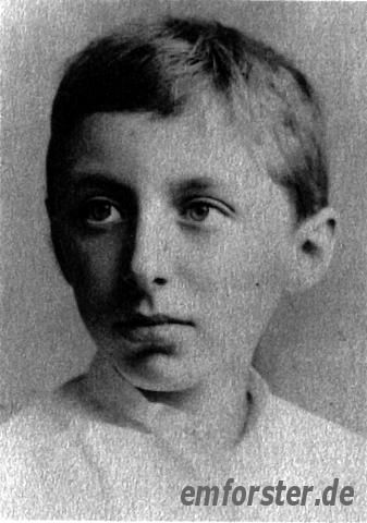E. M. Forster, 1890, at the age of eleven.