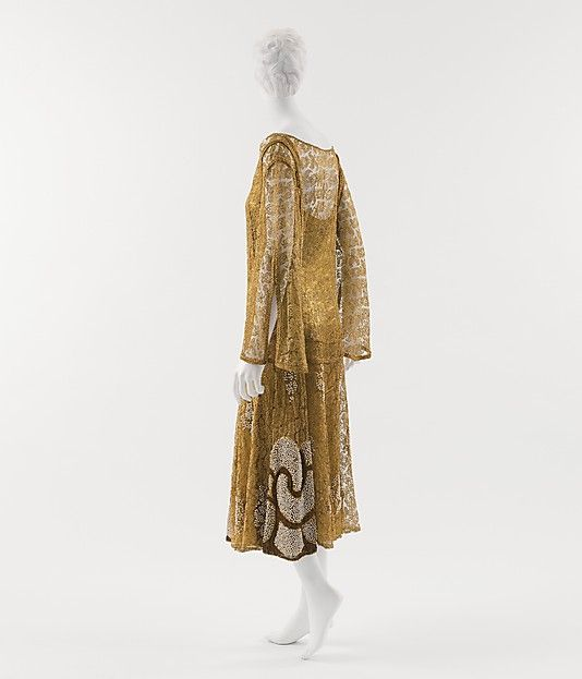 Evening Dress 1925, French, Made of metallic