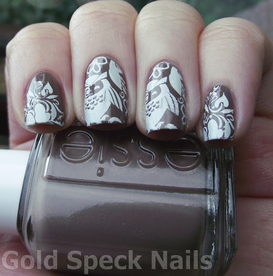 Gold Speck Nails