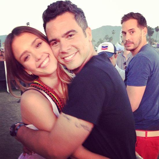 Jessica Alba, Cash Warren via @Cash Warren -- Instagram Roundup: Alessandra Ambrosio, Jessica Alba, Karlie Kloss & More At Coachella Weekend 2, #PoloEmpireClub