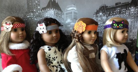 American Girl Doll Handmade Headband with by PartywithFelt on Etsy, $6.25