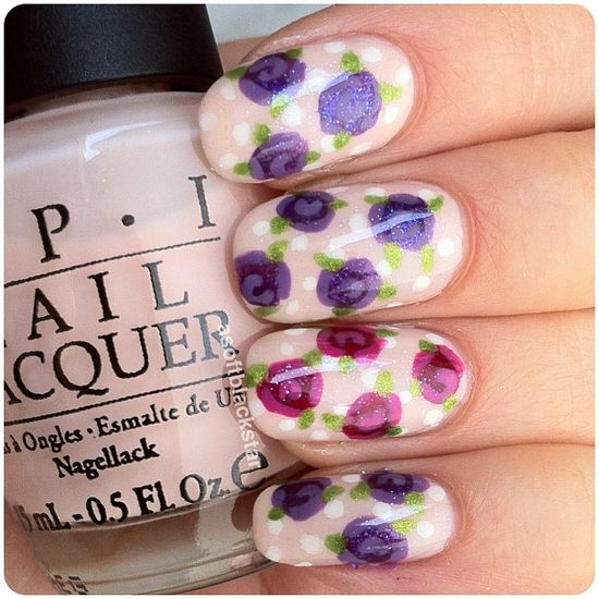 34 Beautiful Pastel  Nails Design With Flowers THE MOST POPULAR NAILS AND POLISH #nails #polish #Manicure #stylish