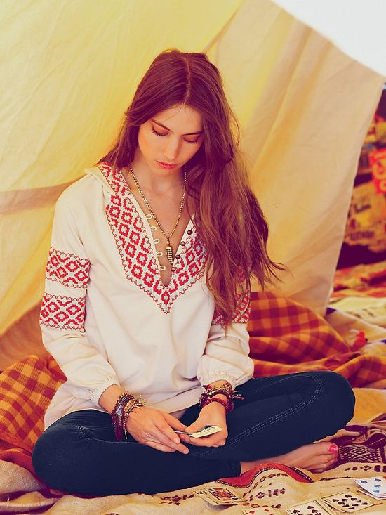 Free People Capetown Hooded Pullover