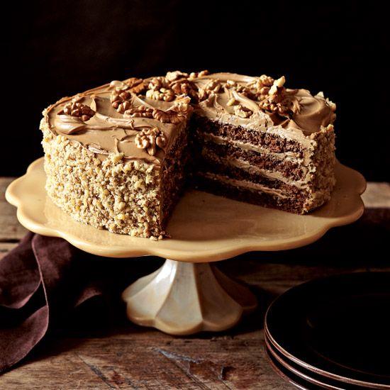Rum-Mocha-Walnut Layer Cake // More Lovely Layer Cakes: www.foodandwine.c... #foodandwine