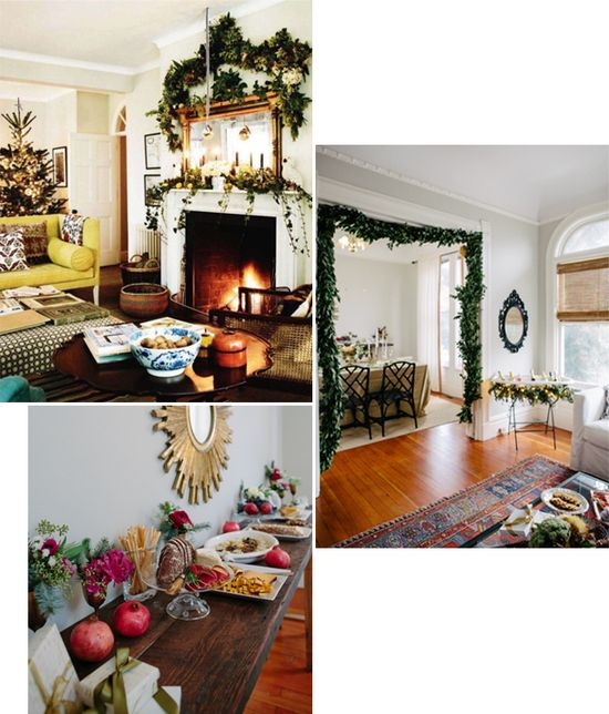 living room set up BUT can be also used for holiday decorating