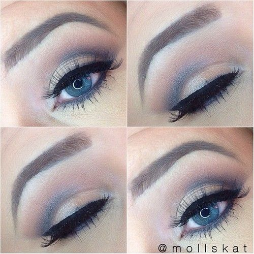 soft smokey eye makeup idea