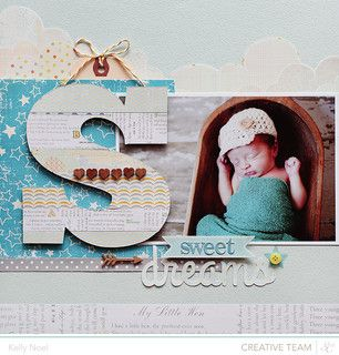 #papercraft #scrapbook #layout    Sweet Dreams *SC Storytime* by Kelly Noel at @Studio_Calico #SCstorytime