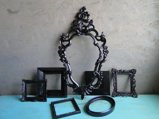 Vintage Framed Mirror Set Collection Home Decor Set by TRWpainted, $195.00