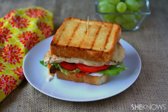 Texas toast grilled chicken sandwiches
