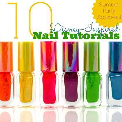 10 Disney Inspired Nail Art Tutorials