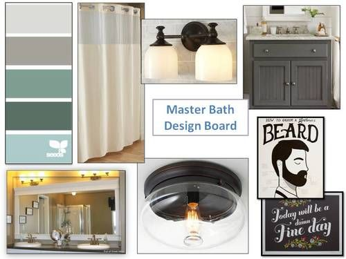 Master bathroom design board I An Uncommon Fraase
