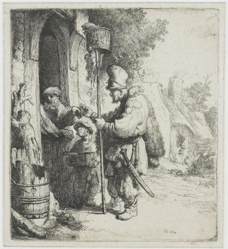 The rat poison peddler (The rat catcher) Rembrandt 1632