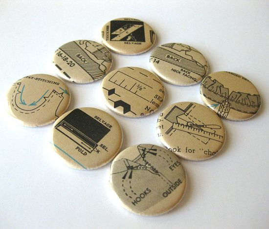 Sewing pattern magnets