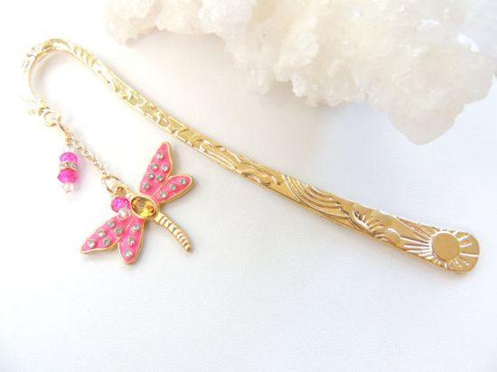Dragonfly Bookmark Metal Bookmark Bug by pnljewelrydesigns on Etsy, $15.00
