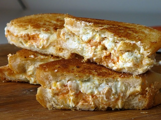 Buffalo chicken grilled cheese,