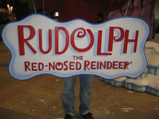 Custom Made Rudolph Sign by Working Designs and Installations,