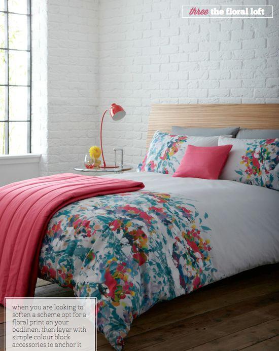 The Floral Loft bedroom