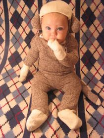 Halloween costume for baby!!    Sock Monkey