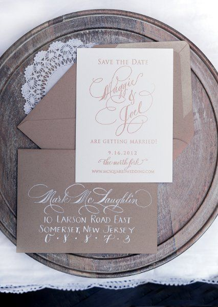 rustic wedding invitation by Abigail T. Calligraphy