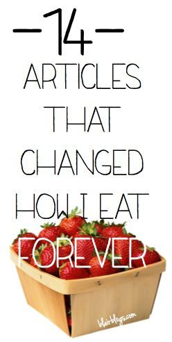 Real Food Changes