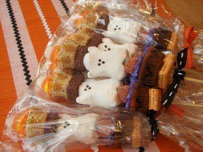 Halloween candy kabobs!
