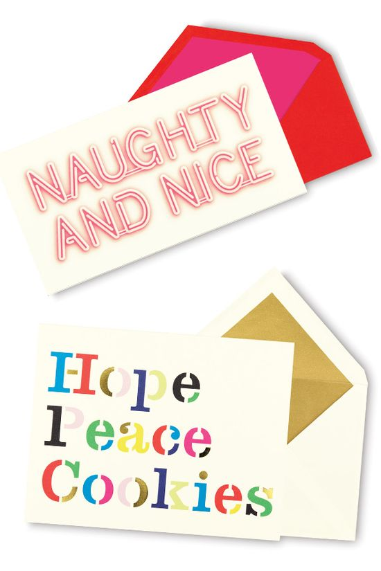Spread season's greetings and yuletide cheer with these fun and festive holiday cards from Kate Spade New York