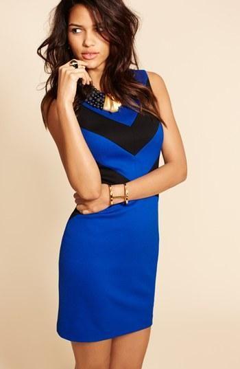 Party! Fabulous royal blue chevron dress.