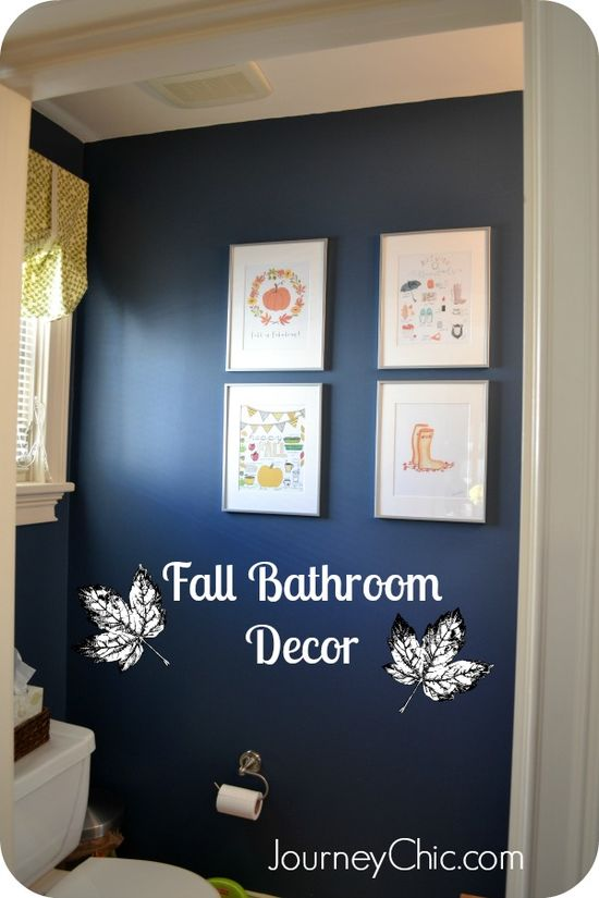 Fall Bathroom Decor Ideas with Sources for Free Fall Printables