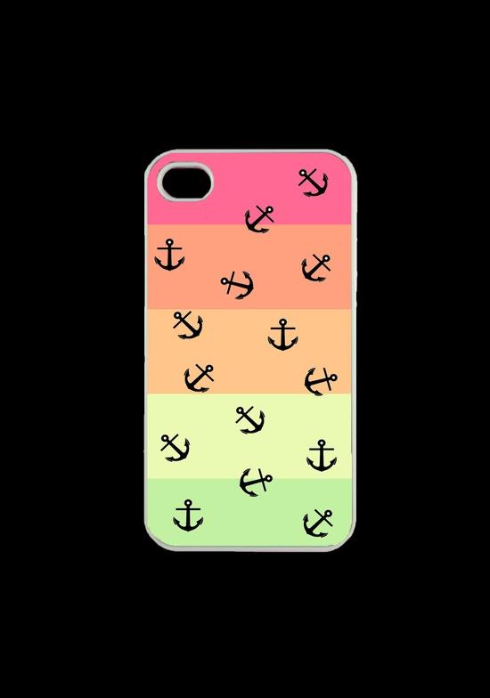 Nautical Anchor Iphone Case, Iphone 4 Case, Iphone 4s Case. $14.99, via Etsy.