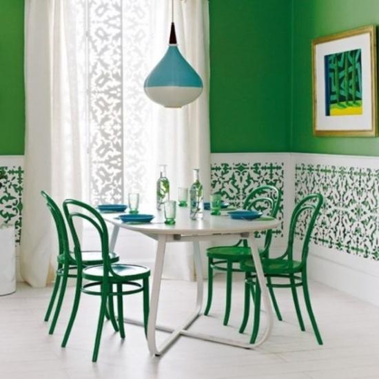 Green walls. See more @BrightNest Blog!