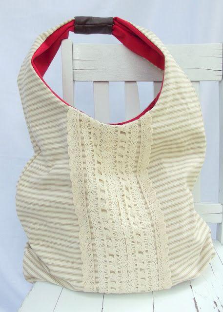 cute little sling tote tutorial.