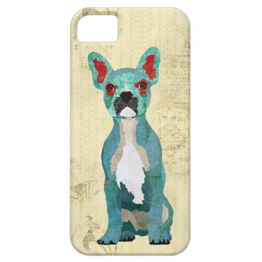 Azure Ornate French Bull Dog iPhone Case iPhone 5 Case